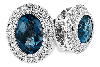E235-01652: EARR 1.76 LONDON BLUE TOPAZ 2.01 TGW