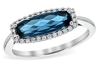 E235-96261: LDS RG 1.79 LONDON BLUE TOPAZ 1.90 TGW