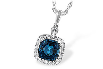 F235-01643: NECK 1.63 LONDON BLUE TOPAZ 1.80 TGW