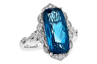 F235-92552: LDS RG 6.75 LONDON BLUE TOPAZ 6.90 TGW