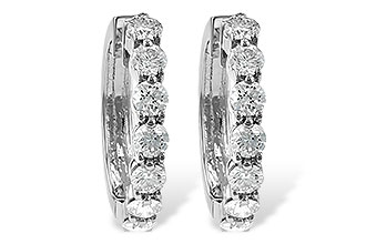 K231-39842: EARRINGS 2 CT TW