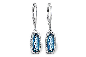 L235-97124: EARR 2.10 LONDON BLUE TOPAZ 2.28 TGW
