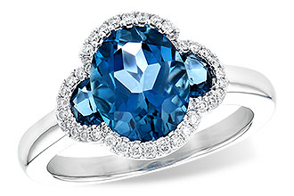 L235-97151: LDS RG 3.04 TW LONDON BLUE TOPAZ 3.20 TGW