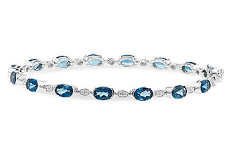 L235-97179: BRACELET 7.20 LONDON BLUE TOPAZ 7.36 TGW
